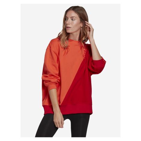 Adicolor Sliced Trefoil Mikina adidas Originals Oranžová