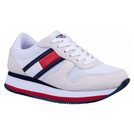Tommy Hilfiger FLATFORM RUNNER COLOUR SNEAKER bílá - Dámská volnočasová obuv
