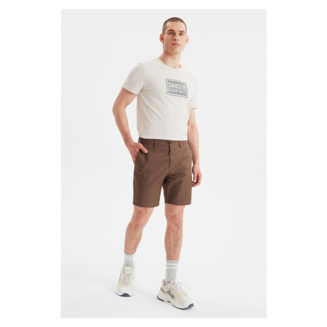 Trendyol Brown Men's Chino Shorts & Bermuda