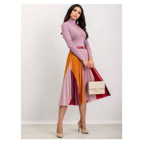Dusty pink RUE PARIS turtleneck blouse Fashionhunters