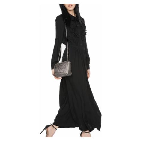 Černé maxi šaty - LOVE MOSCHINO