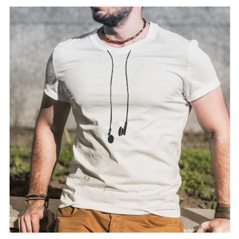 Pánské tričko se sluchátky - vtipný minimalistický potisk BezvaTriko