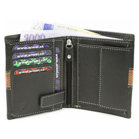 Černá pánská kožená luxusní peněženka Jenifer Arwel