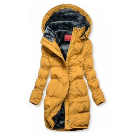 Žlutá zimní bunda s plyšovou podšívkou Butikovo