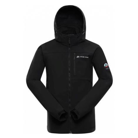 Nootk 8 černá pánská softshellová bunda s dwr úpravou ALPINE PRO