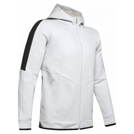 Mikina Under Armour Recover Fleece Full Zip Bílá / Černá