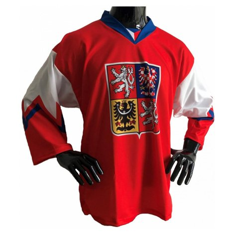 Hokejový dres Česko - červený Červená / Bílá
