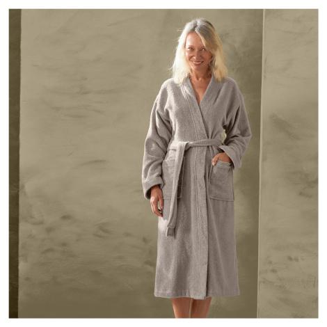 Blancheporte Župan s kimono límcem, bio bavlna hnědošedá