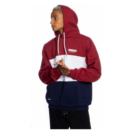 Mass Denim Sweatshirt Zone Hoody claret/navy