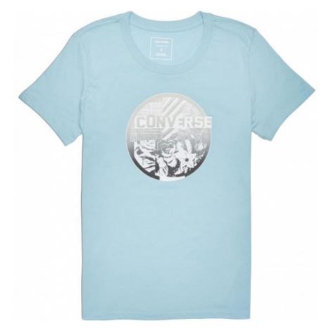 Converse FLORAL COLLAGE CREW TEE šedá - Dámské tričko