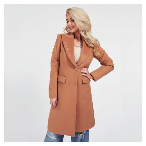 Guess dámský hnědý dlouhý kabát