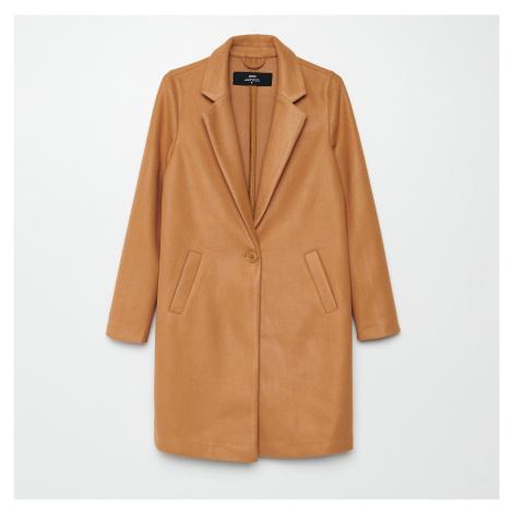 Cropp - Hladký kabát - Béžová