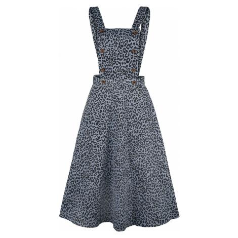 Banned Retro Wild Child Pinafore Dress Šaty modrá/cerná