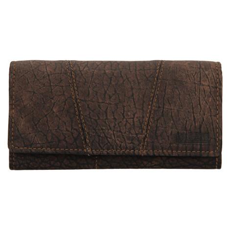 Dámská kožená peněženka Lagen Britta - hnědá