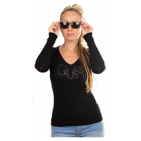 Guess dámský svetr s flitry černý