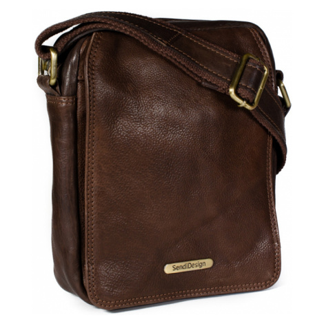 Kožená taška přes rameno SendiDesign SD-52005 hnědá Sendi Design
