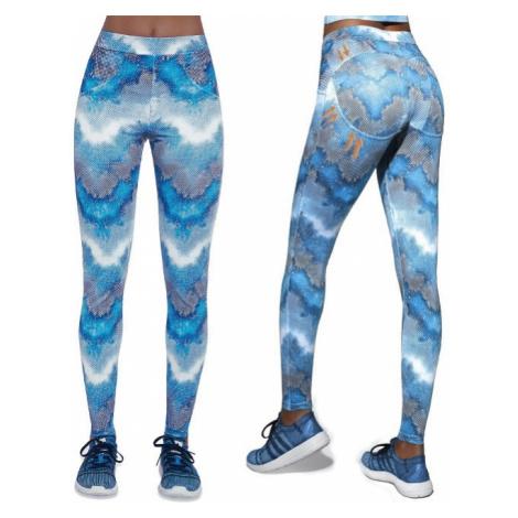 Dámské Sportovní Push-Up Legíny Bas Black Energy Modrá