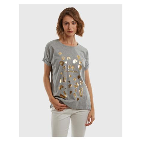 Tričko La Martina Woman Cotton Jersey T-Shirt - Šedá