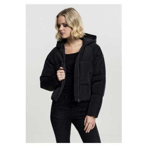 Ladies Hooded Oversized Puffer Jacket - black Urban Classics