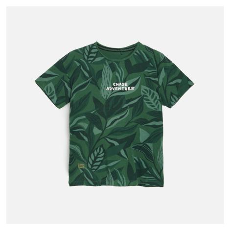 Reserved - Bavlněné tričko s potiskem - Khaki