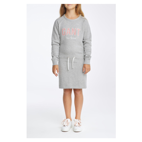 ŠATY GANT D1. NEW HAVEN SWEAT DRESS