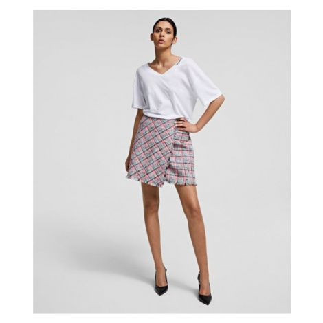 Sukně Karl Lagerfeld Summer Boucle Skirt - Různobarevná
