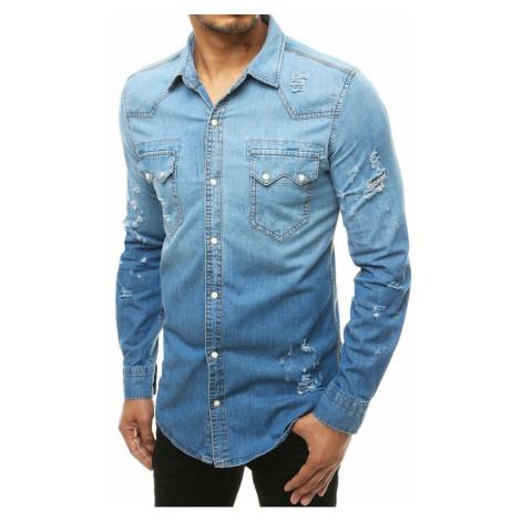 Men's denim shirt blue DX1928 DStreet