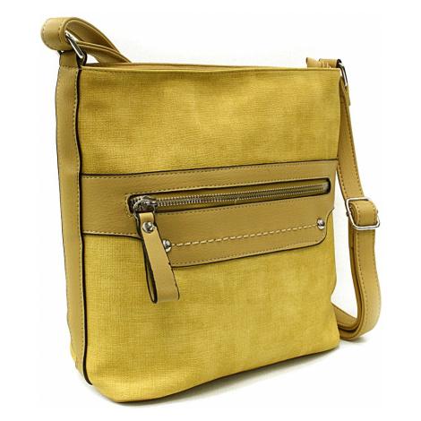 Žlutá moderní dámská crossbody kabelka Dolanna Tapple