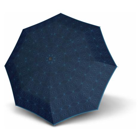 Modrý skládací plně automatický dámský deštník Wanie Doppler
