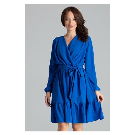 Modré šaty L053 Lenitif