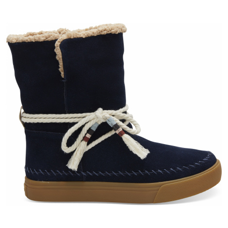Navy Suede/Faux Shearling Women's Vista Boot Toms