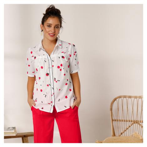 Blancheporte Košile s volány režná/červená