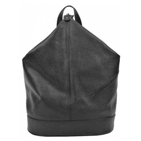 Carla Ferreri Dámský kožený batoh AW19CF1545 Nero