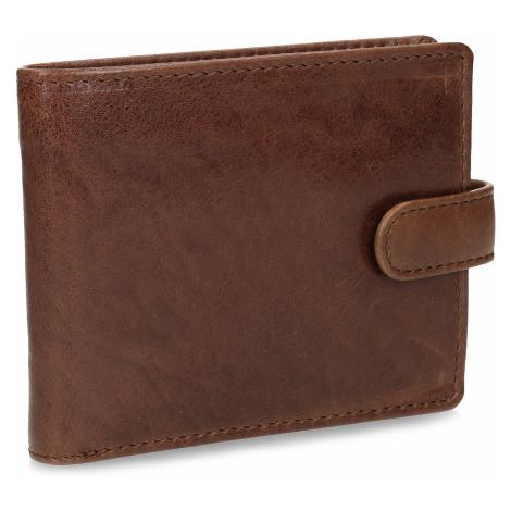 Pánská kožená peněženka hnědá Baťa