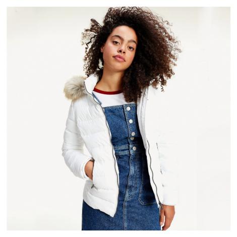 Tommy Jeans dámská bílá bunda Essential Tommy Hilfiger