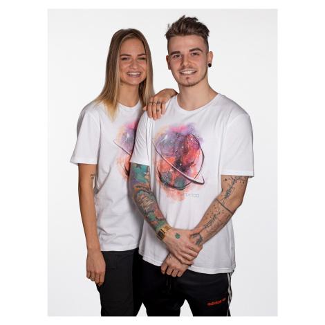 Tričko UrbanStory Fíla Tattoo Pomáháme Unisex Bílá