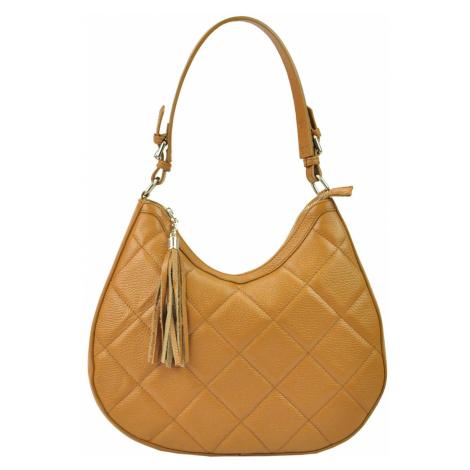 Kožená kabelka přes rameno JUICE 112327 camel