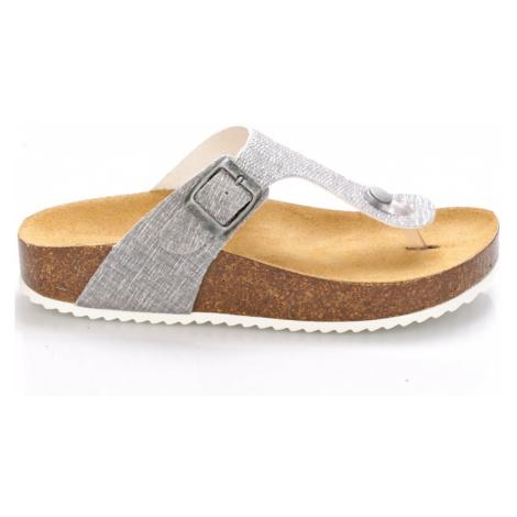 Šedé kožené zdravotní pantofle EMMA Shoes