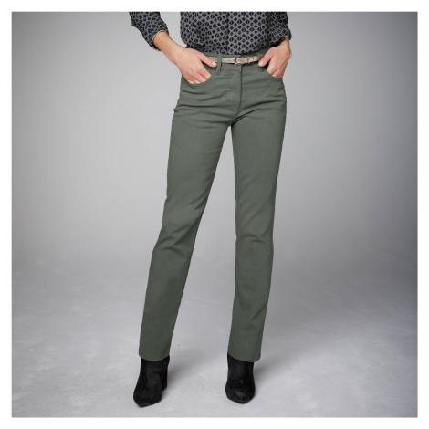 Blancheporte Zeštíhlující kalhoty, vyšší postava khaki