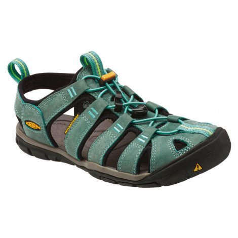 KEEN CLEARWATER CNX LEATHER W Dámské sandály KEN1201097902 mineral blue/yellow