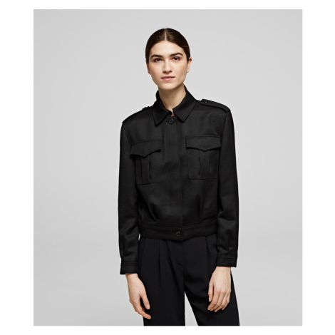 Sako Karl Lagerfeld Army Wool Jacket - Černá