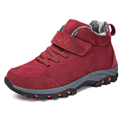 Teplé zimní boty unisex pro pány a dámy černé