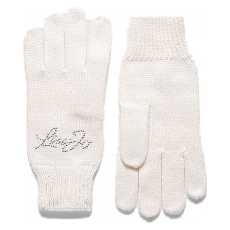 Bílé vlněné zimní rukavice - LIU JO