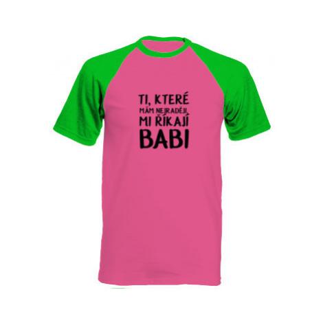 Pánské tričko Baseball Ti, které mám nejraději