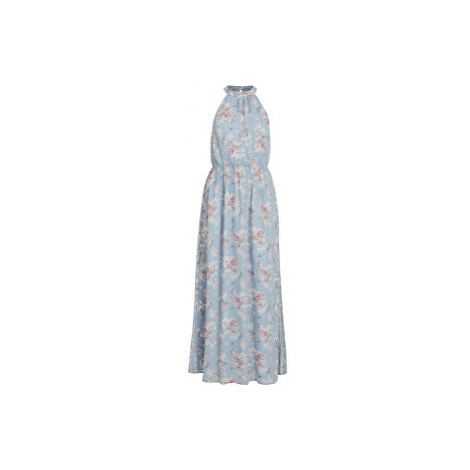 Vila Dámské šaty VISMILLA MAXI DRESS/DC Ashley Blue FLOWER PRINT