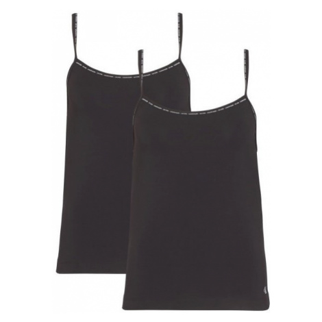 Calvin Klein CALVIN KLEIN dámské černé tílko CAMISOLE 2PK - 2 ks v balení - CK ONE