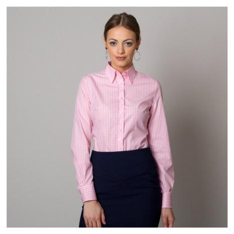 Dámská košile s růžovým kostkovaným vzorem 12456 Willsoor