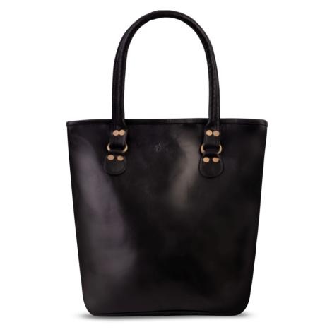 Bagind Belka Sirius - Dámská kožená kabelka černá, ruční výroba, český design