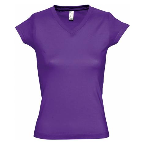 SOĽS Dámské triko MOON 11388712 Dark purple SOL'S