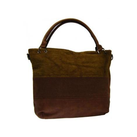 New Berry Kávově hnědá dámská kabelka s pruhy AE-0903 Hnědá